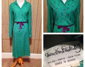 Vintage 70's Diane Von Furstenberg Dress - large