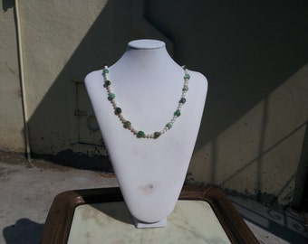 Chrysoprase and Fresh Water Pearls