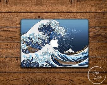 MacBook Vinyl Decal The Great Wave MacBook Air Sticker Japanese art MacBook Skin MacBook Sticker Hokusai, Under the Wave off Kanagawa EL017