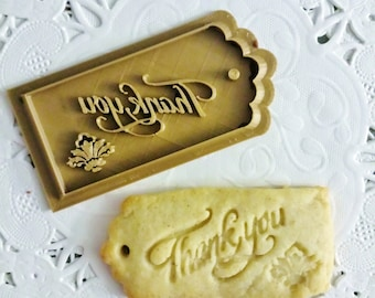 Thank you cookies ~ 3D printed cookie cutter ~ Thanksgiving gift