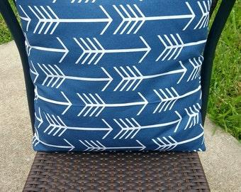 Navy Arrow Pillow, Arrow Pillow, Blue Pillow, Envelope Pillow, Arrow Pillow Cover, Accent Pillow, Decorative Pillow, Tribal Pillow, Tribal