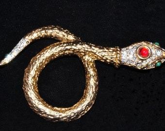 Green Eyed Snake Pin