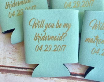 Bridesmaid Proposal Gift - Bridesmaids Can Coolers  - Bachelorette Party Favors - Bachelorette Party Gifts - Bridesmaids Gifts