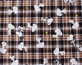 Snoopy Character Fabric made in Japan, Charlie Brown, Woodstock Fabric by the Half Yard