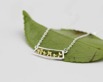 leaf necklace, plant necklace, tree necklace, sterling silver plant necklace, sterling silver leaf necklace, leaf, nature necklace, nature