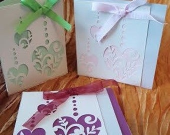 Set of three handcrafted all occasion cards