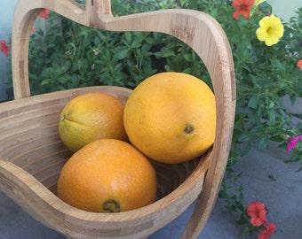 Wood Fruit Basket