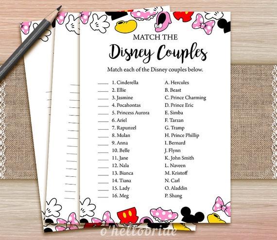 Clean image throughout free printable disney bridal shower games