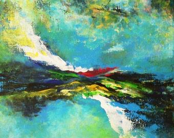 Verdant - original acrylic painting