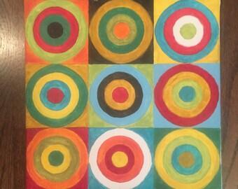 Small Original Abstract Art (12x12)