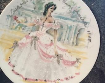 "Limoges ""Scarlet en Crinoline"" collectors plate"