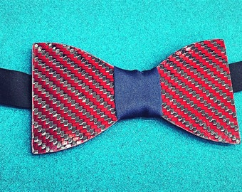 Red Carbon Fiber Bow Tie