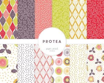 protea - digital paper