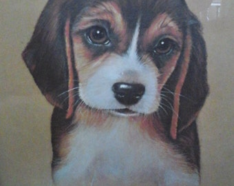 Beagle print signed