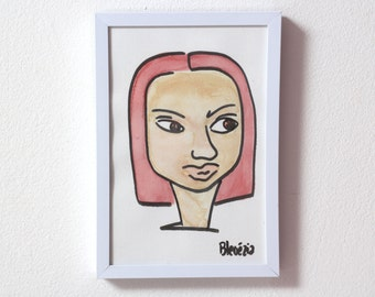 quirky portrait - red hair