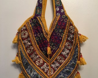 Indian Handmade Embroidered Embellished Beach/Festival/Shopper Shoulder bag