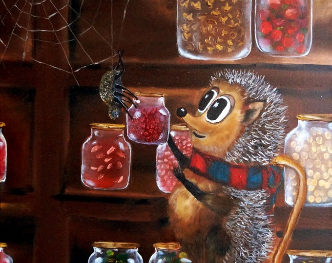 Canvas Wall Art- Get well, friend Timothy- Oil Painting On Canvas By Nikulina Yulia- size 24*20( 60*50 cm)- naive painting