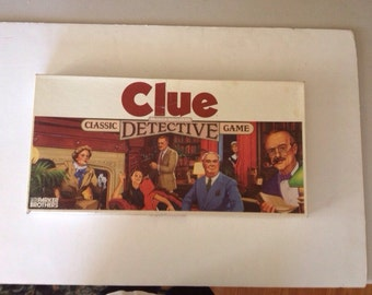 Vintage 1986 clue game