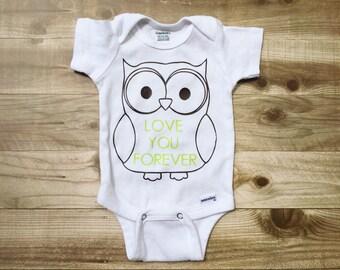 OWL love you forever {Onesie}