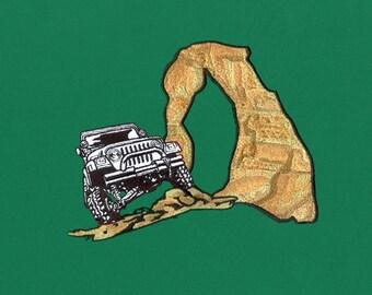 Mountain Jeep Adventurous Embroidery Design