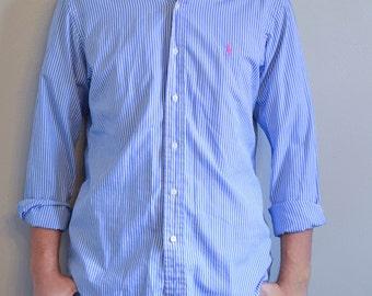 Blue Striped Polo Ralph Lauren Shirt