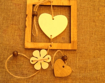 wooden decoration for shabby chic décor