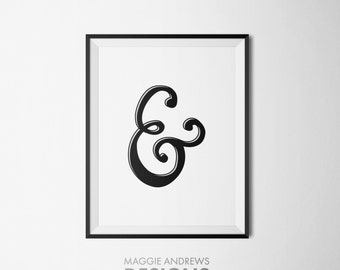 Ampersand Typography Poster, Typography Print, Typography Wall Art, Home Decor Wall Art, Instant Digital Download