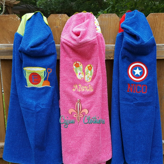 2 Custom Hooded Towel Hooded Beach Towel Hooded Bath Towel
