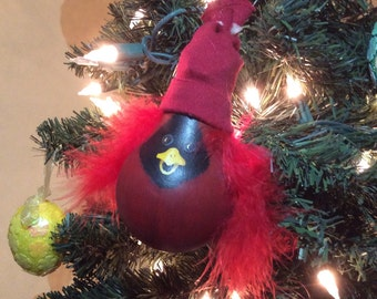 Cardinal light bulb ornament