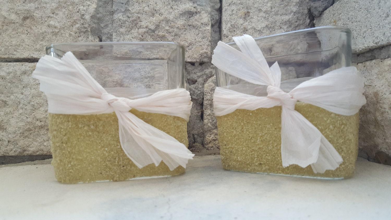 Beach Wedding Decor Neutral Candle Centerpieces Wedding