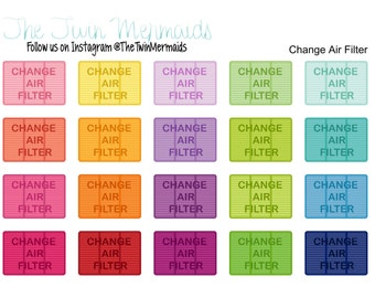 Change Air Filter Planner Stickers