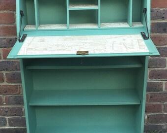 SOLD - Charming Handpainted Oak Bureau