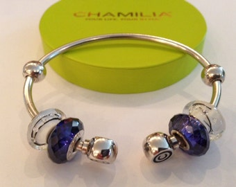Sterling Silver Bracelet Cool Blue by Chamilia