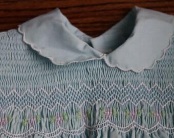 Light Blue Smocked Girls Dress size 12 months