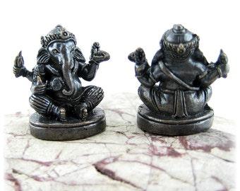 Ganesh Statues Ganesh Figurine Hindu Deity Ganesha Statue Buddhist Mini Charm Meditation Altar Pocket Altar Shrine Ganesh Statuette