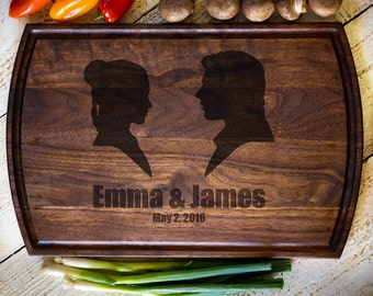 Personalized Cutting Board, Custom, Star Wars, Han Solo & Princess Leia, Wedding Gift, Anniversary, Bridal Shower Gift, Kitchen Decor #3132