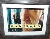 Star Wars Custom Lego Han Solo mini figure Frame with Scrabble tiles