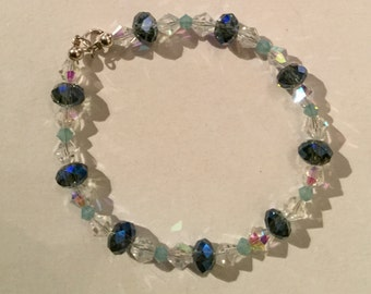 Swarovski Crystal and Sterling Silver Bracelets