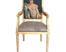 Unique French Arm Chairs Related Items Etsy