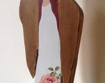 Wooden Standing Angel
