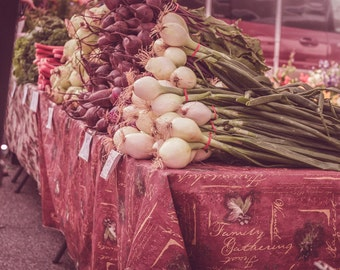 Farmers Market, Vegetable Art, Food Photography, Street Photography, Vegetarian, Home Decor, Restaurant Decor, Wall Print, Produce Stand