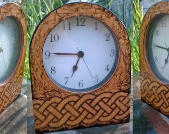 Celtic Pyrography Clock