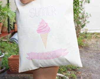 Totebag 100% cotton summer paradise