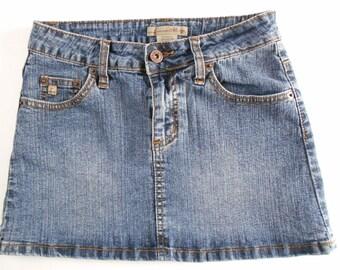 Vintage Junior Skirt Denim Misses Skirt Tyte American Standard