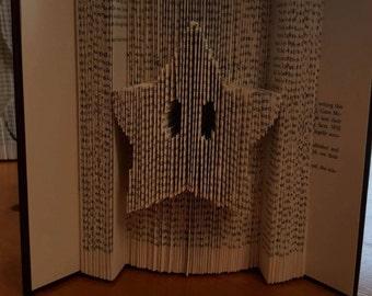 Mario Invincibility star CUT AND FOLD book art
