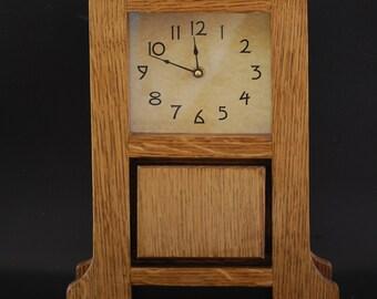 Craftsman, Mission Style, Arts & Crafts Mantel Clock