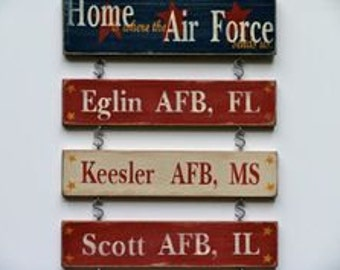 Military Locations Sign