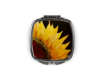 "Compact mirror ""Sunflower"""