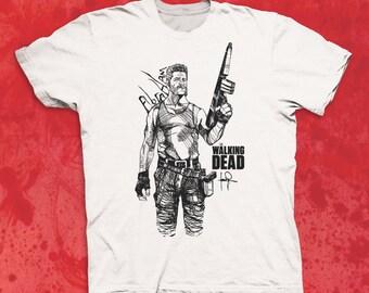 Walking Dead Abraham Sketch Character T-shirt TWD