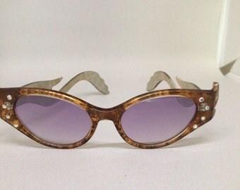 Cat's Eye Rhinestone Sunglasses Dr. Peepers Vintage